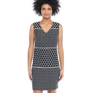 The Limited Black White Sheath Sleeveless Dress